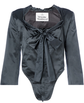 Vivienne Westwood Corset Jacket Black Silk Size 40