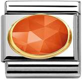 Nomination 2 m Gold Plated Cubic Zirconia Orange – 030515/10 Stainless Steel