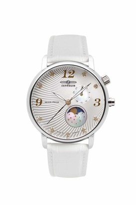 Zeppelin Women's Analogue Quartz Watch with Leather Strap 7637-1