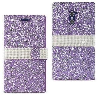 Reiko Wireless Zte Grand X Max 2 Jewelry Rhinestone Wallet Case In Purple