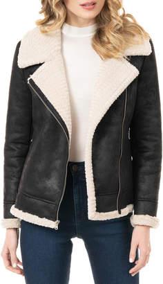 Fabulous Furs Urbanista Faux Suede Moto Jacket