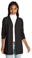 Calvin Klein Women's Cardi with Suede Front
