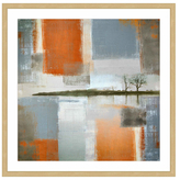 Parvez Taj Through Orange and Grey by Framed Giclee)