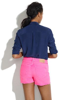 Madewell Denim Cutoff Shorts in Palace Pink