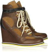 See by Chloe Leather and suede sneaker-style ankle boots