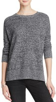 Aqua Cashmere Front Seam Drop Shoulder Cashmere Sweater