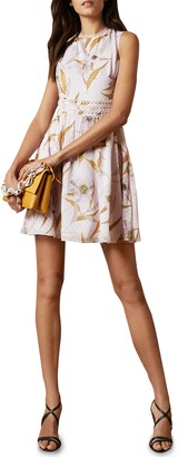 Ted Baker Rontie Cabana Floral Clip Dot Skater Dress