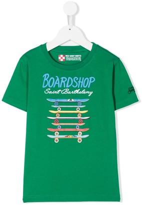Mc2 Saint Barth Kids Board Shop crew neck T-shirt