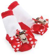 Mud Pie Monkey Socks in Red