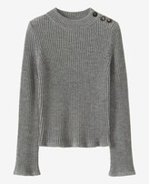Toast Button Shoulder Wool Sweater