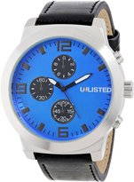 Unlisted Watches Men's UL1258 City Streets Round Bright Dial Multi-Eye Watch