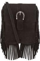 Maje Sophia Suede Fringe Shoulder Bag
