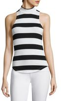 Frame Mockneck Striped Tank Top