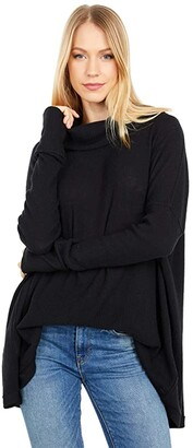 Free People Juicy Long Sleeve (Black) Women's Clothing