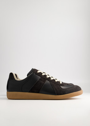 Maison Margiela Men's Replica Sneaker in Black/Gum, Size 39 | Leather/Suede/Rubber