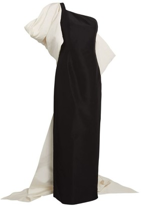 Carolina Herrera Bow-Detail One-Shoulder Column Gown