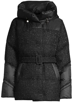 Nicole Benisti Vendome Tweed Contrast Down Jacket