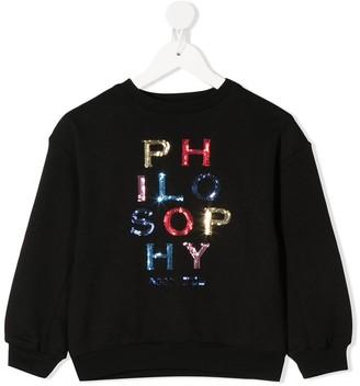 Philosophy Di Lorenzo Serafini Kids Logo Embroidered Sweatshirt