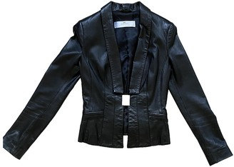 Elisabetta Franchi Black Leather Jacket for Women