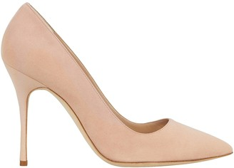 Manolo Blahnik Brushed Suede Pumps
