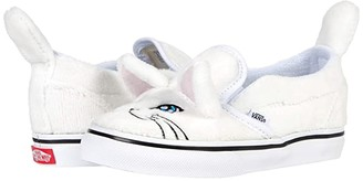 Vans Kids Cat Slip-On V (Infant/Toddler) ((Cat) True White/True White) Kid's Shoes