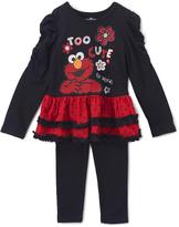 Children's Apparel Network Sesame Street Elmo 'Too Cute' Ruffle Tunic & Leggings - Toddler