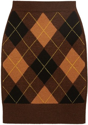 Burberry Ayla Wool & Cashmere Knit Skirt