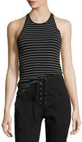 A.L.C. Matt Scoop-Neck Striped Racerback Tank
