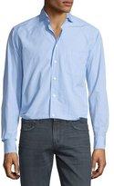 Eton Dobby-Print Long-Sleeve Sport Shirt, Light Blue