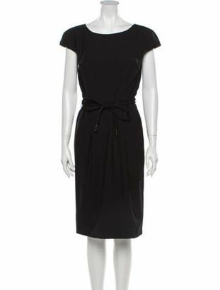 Dolce & Gabbana Virgin Wool Knee-Length Dress Wool