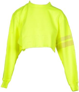GCDS Women's Neon Yellow Sweatshirt