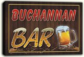 AdvPro Canvas scw3-052946 BUCHANNAN Name Home Bar Pub Beer Mugs Stretched Canvas Print Sign
