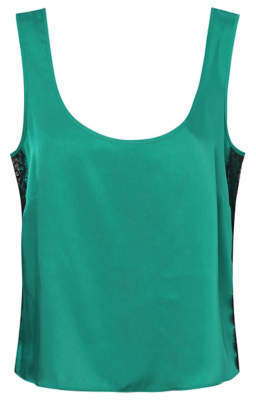 George Green Lace Trim Pyjama Vest Top