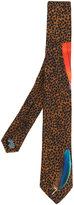 Paul Smith leopard embroidered tie - men - Silk - One Size