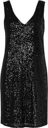 Wallis Black Sequin Shift Dress