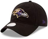 New Era Women's Black Baltimore Ravens Core Classic Primary 9TWENTY Adjustable Hat