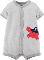 Carter's Baby Boys' Graphic Romper (Baby) - Heather