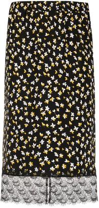 MICHAEL Michael Kors Floral-Print Midi Skirt