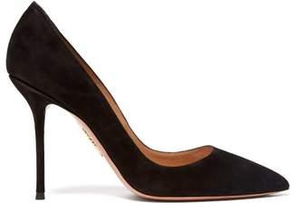 Aquazzura Purist 75 Suede Stiletto Pumps - Womens - Black