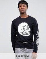 Cheap Monday Black And White Rose Sweater