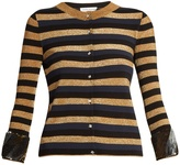 Sonia Rykiel Sequin-embellished striped-knit cardigan
