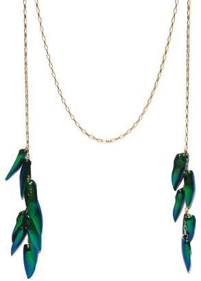 Isabel Marant Wild Fly Necklace - Green Multi