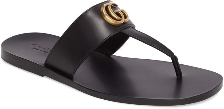 a46bdb2ad1 Marmont Double G Leather Thong Sandal