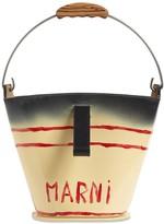 Marni CUMARU PRINTED LEATHER BUCKET BAG