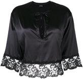 La Perla lace band cropped blouse
