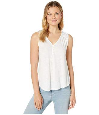 Lucky Brand Henley Tank with Applique