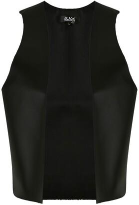 Black Comme Des Garçons Faux Leather Open Vest