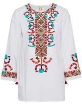Figue Tassel-Trimmed Embroidered Cotton-Poplin Tunic