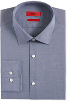 HUGO BOSS HUGO Men's Slim-Fit Navy Micro-Check Dress Shirt