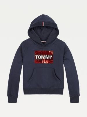 Tommy Hilfiger Organic Cotton Flip Sequin Hoody
